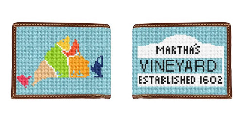 Martha's Vineyard Map Needlepoint Wallet