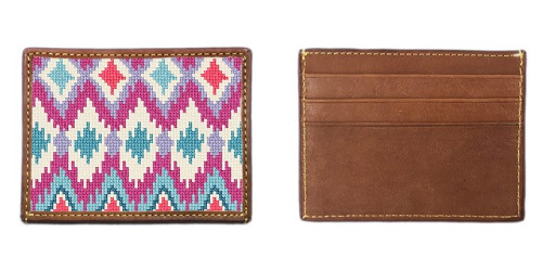 Buri Ikat Needlepoint Card Wallet