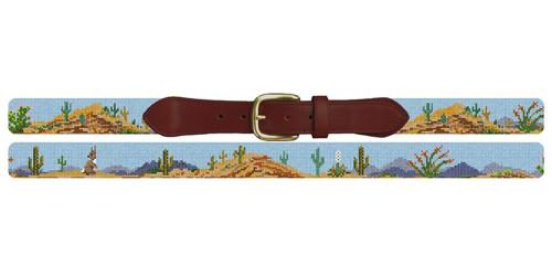 Arizona Desert Landscape Needlepoint Belt
