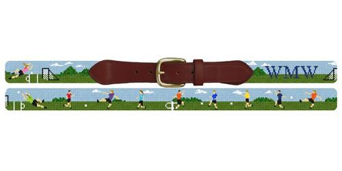 Soccer Practice Needlepoint Belt