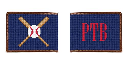 Baseball Needlepoint Wallet