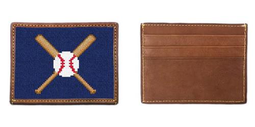 Baseball Needlepoint Card Wallet