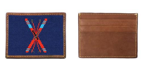 Crossed Skis Needlepoint Card Wallet