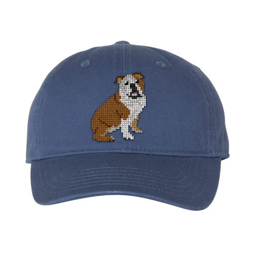 Bulldog Needlepoint Hat