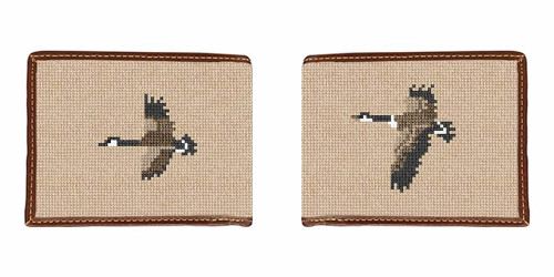 Canadian Geese Needlepoint Wallet