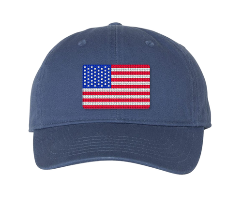 American Flag Needlepoint Hat