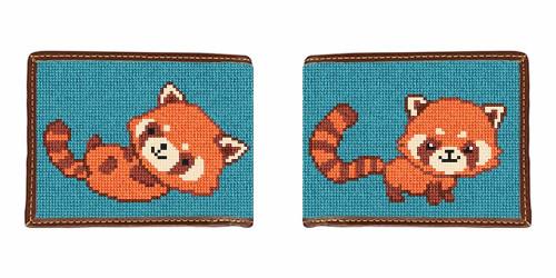 Red Panda Needlepoint Wallet