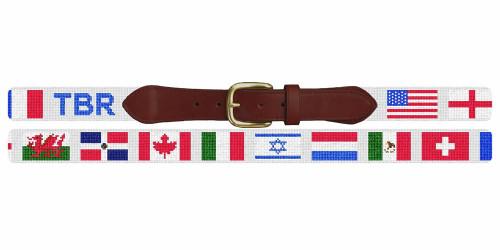 Custom Flags Needlepoint Belt