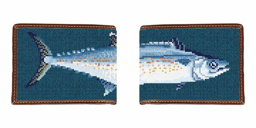 Cero Mackerel Needlepoint Wallet