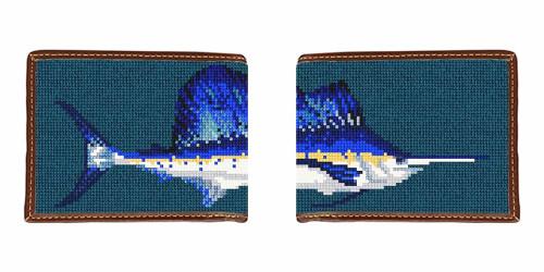Sailfish Needlepoint Wallet