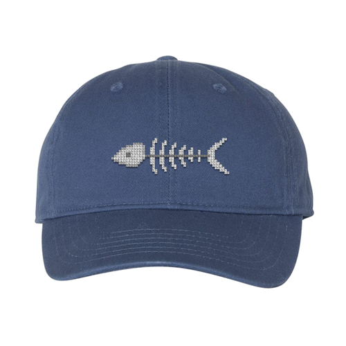 Fish Bones Needlepoint Hat