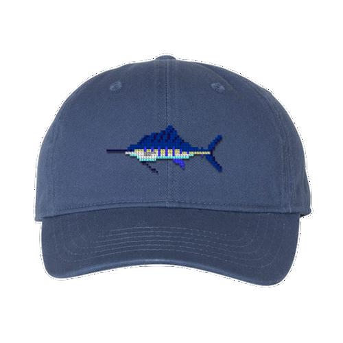 Sailfish Needlepoint Hat