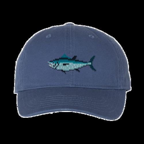 Blue Tuna Needlepoint Hat