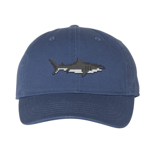 Great White Shark Needlepoint Hat