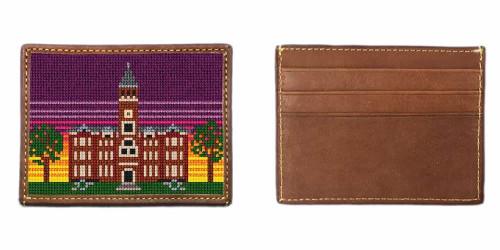 Tillman Hall Needlepoint Card Wallet Clemson University