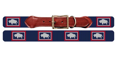 Wyoming Flag Needlepoint Dog Collar