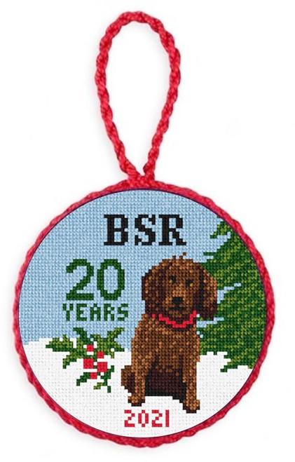 Boykin Spaniel Rescue Needlepoint Christmas Ornament