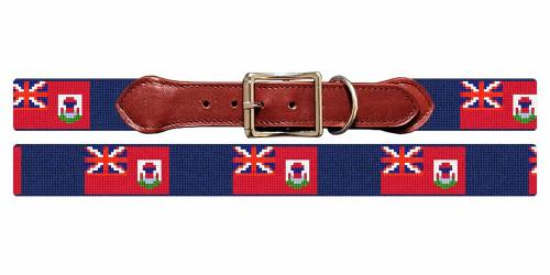 Bermuda Flag Needlepoint Dog Collar
