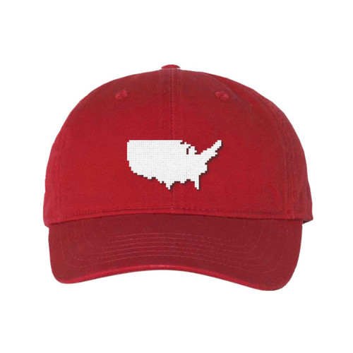 United States Custom Needlepoint Hat
