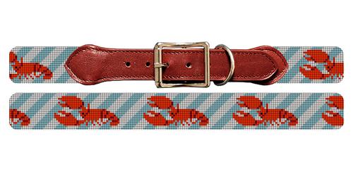 Lobster Needlepoint Dog Collar
