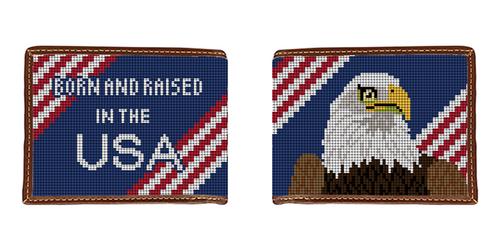 Eagle Needlepoint Wallet