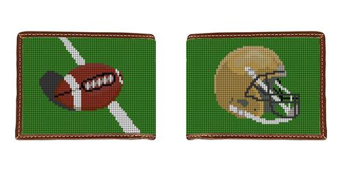 Custom Football Needlepoint Wallet