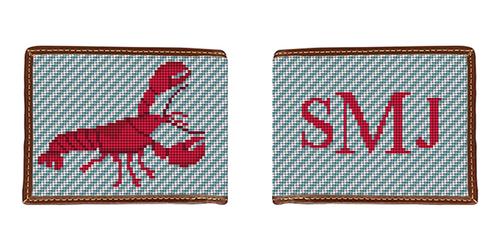Lobster Needlepoint Wallet