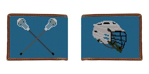 Lacrosse Needlepoint Wallet