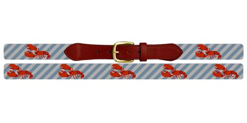 Classic Lobster Needlepoint Belt