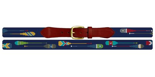 Preppy Paddle Needlepoint Belt