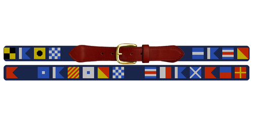 Maritime Signal Flag Needlepoint Belt