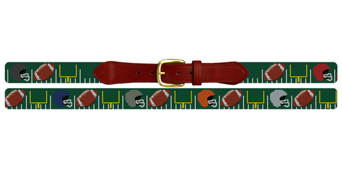 Custom Football Needlepoint Belt
