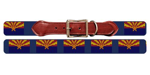 Arizona Flag Needlepoint Dog Collar
