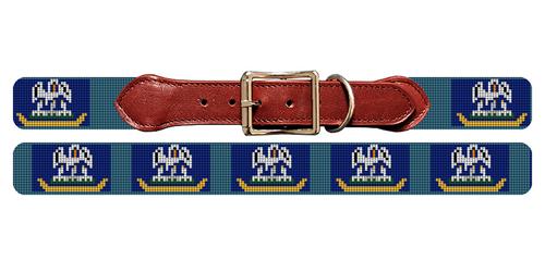 Louisiana Flag Needlepoint Dog Collar