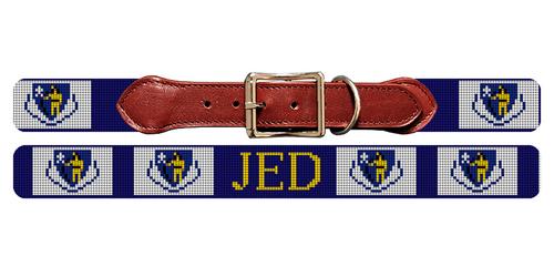 Massachusetts Flag Needlepoint Dog Collar