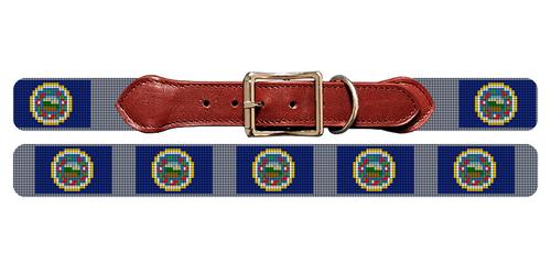 Minnesota Flag Needlepoint Dog Collar