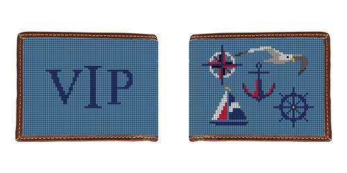 Nautical Needlepoint Wallet