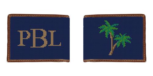 Palm Tree Needlepoint Wallet