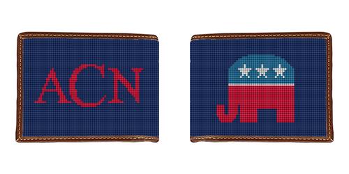 Republican Needlepoint Wallet