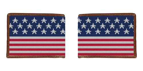 American Flag Needlepoint Wallet