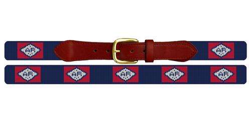 Arkansas Flag Needlepoint Belt