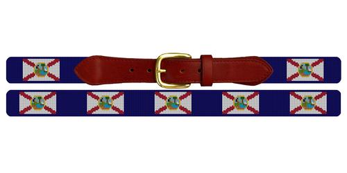 Florida Flag Needlepoint Belt