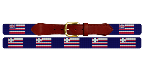 Hawaii Flag Needlepoint Belt