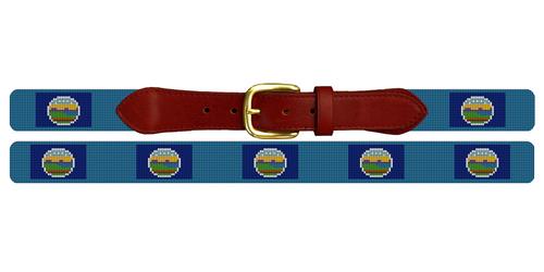 Kansas Flag Needlepoint Belt