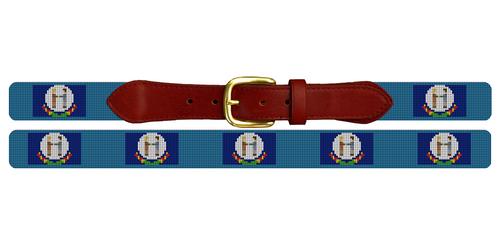 Kentucky Flag Needlepoint Belt
