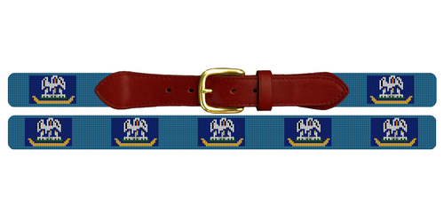 Louisiana Flag Needlepoint Belt