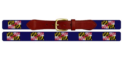 Maryland Flag Needlepoint Belt