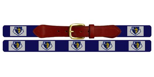 Massachusetts Flag Needlepoint Belt