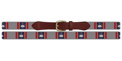 Mississippi Flag Needlepoint Belt