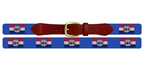 Missouri Flag Needlepoint Belt